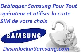 Desimlocker Samsung par code original